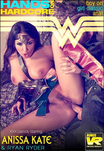 Anissa Kate - Horny Wonderwoman: Salacious Babe in Costume Fucked Up Her Ass
